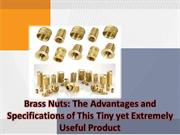 List 5 of different types of brass nuts