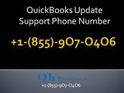QuickBooks Update Support Phone Number | 855-9O7-O4O6