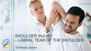 Shoulder Injury – Labral Tear of the shoulder -Bone and joint Consult
