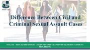 Difference Between Civil and Criminal Sexual Assault