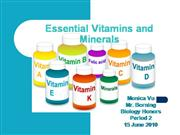 Essential Vitamins and Minerals1