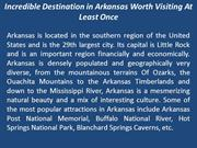 Incredible Destination in Arkansas Worth Visiting At Least Once