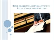 Best Boutique Law Firms Sydney | Legal Advice for Startups
