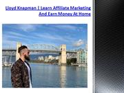 Lloyd Knapman | Affiliate Marketing Guide Step By Step