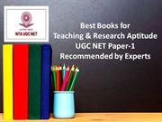 UGC NET BOOKS Paper 1 | Dedicated to NTA UGC NET Exam