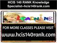 HCIS 140 RANK Knowledge Specialist--hcis140rank.com