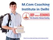 best m.com coaching center | best institute for mcom coaching