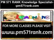 PM 571 RANK Knowledge Specialist--pm571rank.com