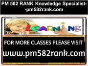 PM 582 RANK Knowledge Specialist--pm582rank.com