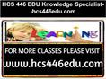 HCS 446 EDU Knowledge Specialist--hcs446edu.com