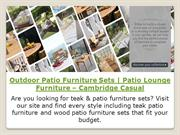 Outdoor Patio Furniture Sets | Patio Lounge Furniture