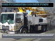 Used Putzmeister Concrete Pumps