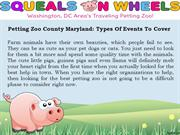 Types of Educational and Interactive Petting Zoo - Squeals on Wheels