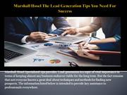 Marshall Hosel The Lead Generation Tips You Need