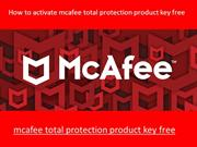 mcafee total protection product key free