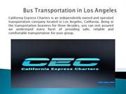 Rent a Bus in Los Angeles
