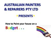 How to Paint your House on a Budget