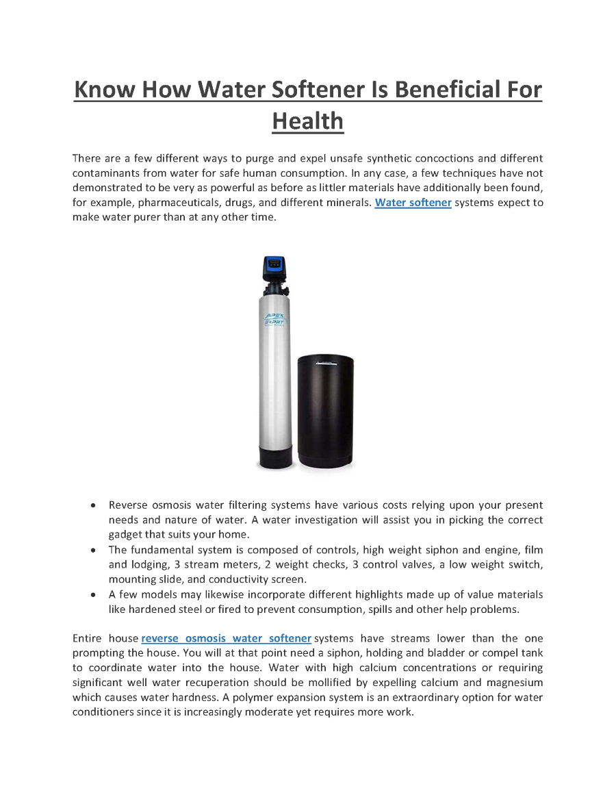 what is the average lifespan of a water softener
