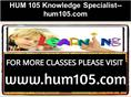 HUM 105 Knowledge Specialist--hum105.com
