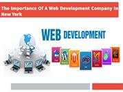 The Importance Of A Web Development Company In New York
