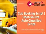PHP Auto Classified Scripts - Cab Booking Script - Open Source