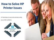 How to solve HP Printer issues