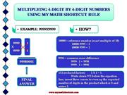 MULTIPLYING 4-DIGIT BY 4-DIGIT NUMBERS S