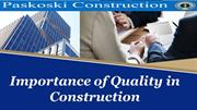 Importance of Quality in Construction