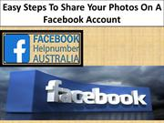 Easy Steps To Share Your Photos On A Facebook Account