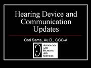 Hearing Device and Communication Updates