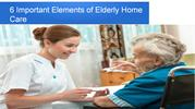 6 Important Elements of Elderly Home Care