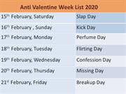 anti valentines days with after valentine week list 2020