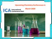 Upcoming Chemistry Conferences in March 2020