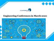 Engineering Conferences in March 2020