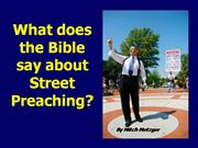 Street Preaching in the Bible by Metzger