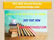 PSY 302 Great Stories /newtonhelp.com