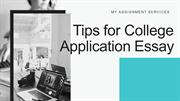 Tips for College Application Essay