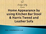 Home Appearance by using Kitchen Bar Stool and Leather Sofa