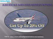 American Airlines Reservations |Best Deals In Flights Booking