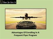 Advantages Of Enrolling In A Frequent Flyer Program