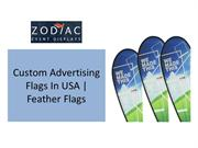 Custom Advertising Flags In USA | Feather Flags | Zodiac Event Display