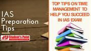 Read these top tips for time management to succeed in IAS exam