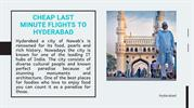 Cheap Last Minute Flights To Hyderabad