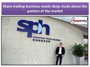 Share trading business needs deep study about the pattern of the marke