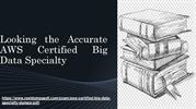 AWS Certified Big Data Specialty Exam Dumps PDF with  Updated Study Ma