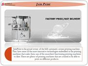The Industrial Screen Printing Machine for Fast Printing Solution