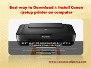 Best way to Download & Install Canon ijsetup printer on computer