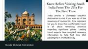 Things You Must Know Before Visiting South India From The USA For The
