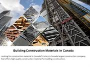 Building Construction Materials in Canada