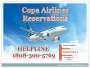 Copa Airlines Reservations Online tickets